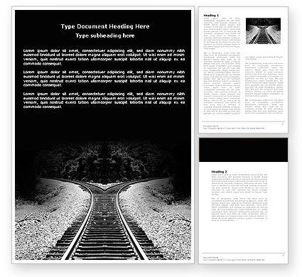 Choosing a Way Word Template, 04471, Construction — PoweredTemplate.com