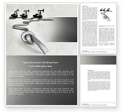 Utilities/Industrial: Gas Pipelines Word Template #04478