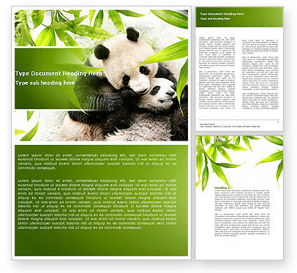 Panda Word Template, 04479, Agriculture and Animals — PoweredTemplate.com