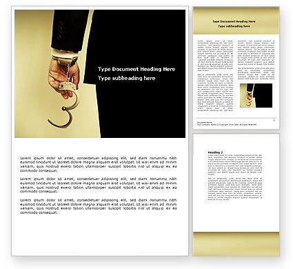 Handcuffs Word Template, 04484, Legal — PoweredTemplate.com