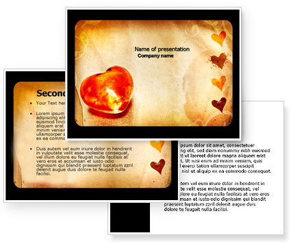 Valentines Day Card PowerPoint Template, Valentines Day Card Background for