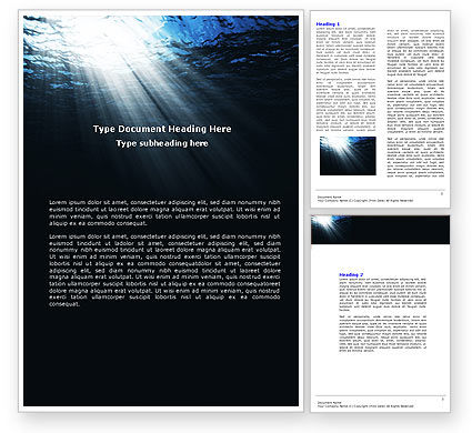 Nature & Environment: Deep Waters Word Template #04488