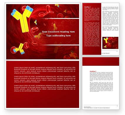 Antibodies Word Template, 04490, Medical — PoweredTemplate.com