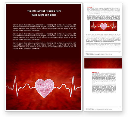 Medical: Heartbeat Word Template #04504
