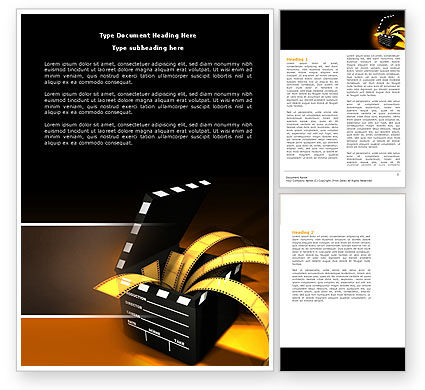 Careers/Industry: Movie Clapper Word Template #04505