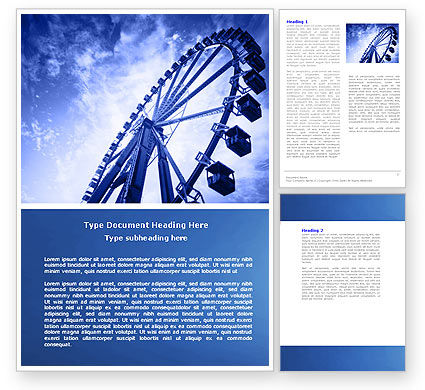 Construction: Ferris Wheel Word Template #04507