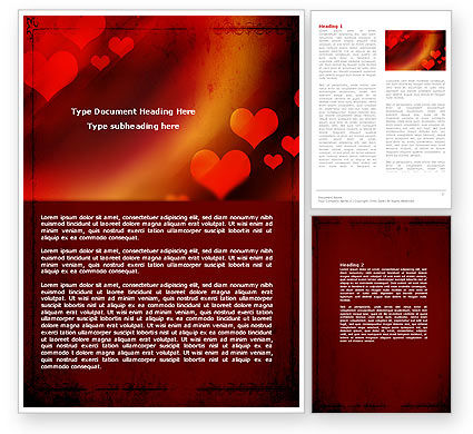 Love Theme Word Template, 04508, Holiday/Special Occasion — PoweredTemplate.com
