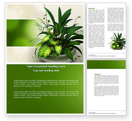 Nature & Environment: House Plant Word Template #04513
