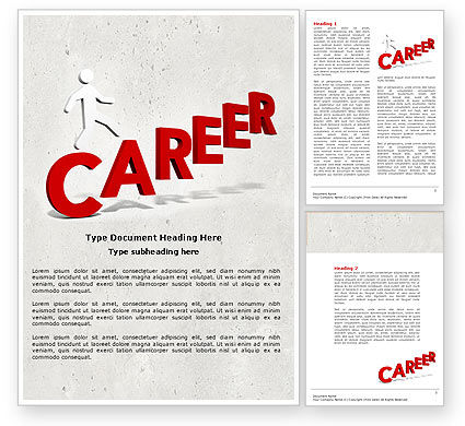 Careers/Industry: Career Movement Word Template #04514