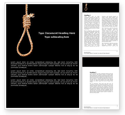 Noose Word Template, 04515, General — PoweredTemplate.com