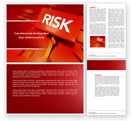 Business: Risk Block Word Template #04516