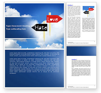 Consulting: Love - Hate Word Template #04518