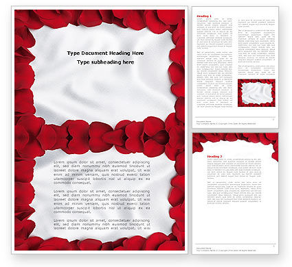 Hearts Theme Word Template, 04520, Holiday/Special Occasion — PoweredTemplate.com