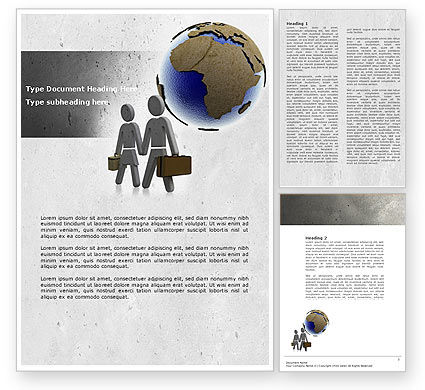 Careers/Industry: Migration Word Template #04521