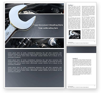 Car Repair Word Template, 04522, Utilities/Industrial — PoweredTemplate.com