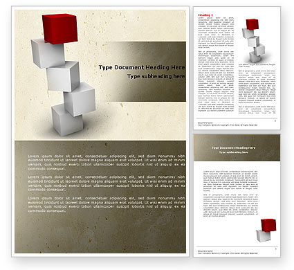 Red Brick Word Template, 04541, Consulting — PoweredTemplate.com