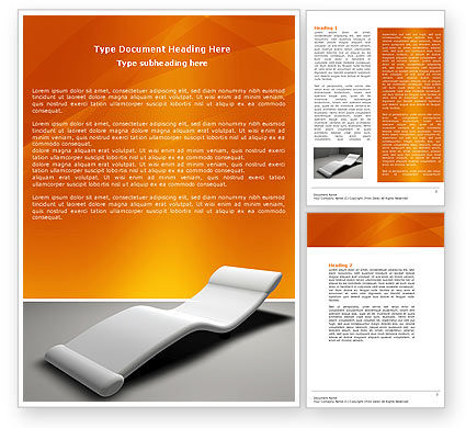 Armchair For Relaxation Word Template, 04553, Medical — PoweredTemplate.com