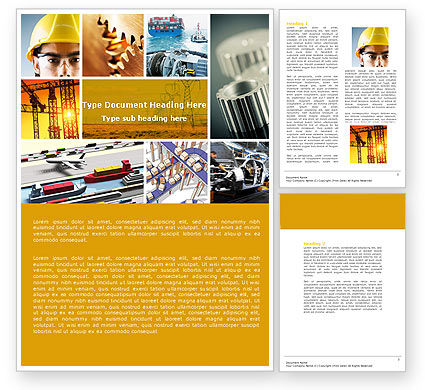 Utilities/Industrial: Templat Word Industri #04562