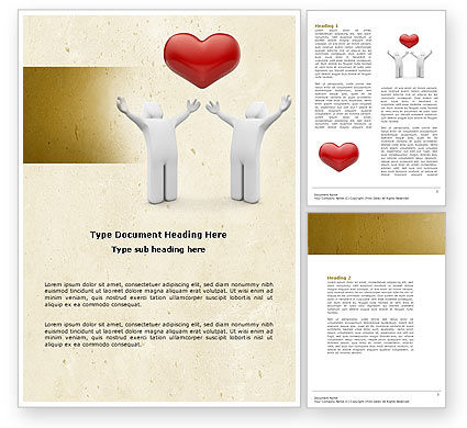 True Love Heart Word Template, 04565, Holiday/Special Occasion — PoweredTemplate.com