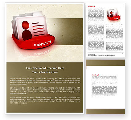 Consulting: Contacts List Word Template #04568