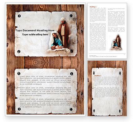 Birth of Christ Word Template, 04574, Religious/Spiritual — PoweredTemplate.com