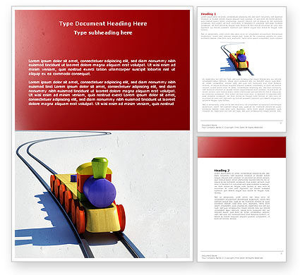 Cars/Transportation: Train Model Word Template #04576