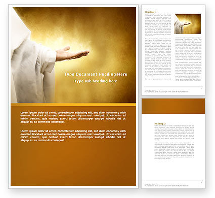 St Family Religion Word Template, 04579, Religious/Spiritual — PoweredTemplate.com