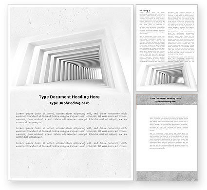 Business Concepts: Light Gray Square Tunnel Word Template #04581