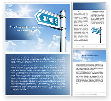 Changes Word Template, 04582, Financial/Accounting — PoweredTemplate.com