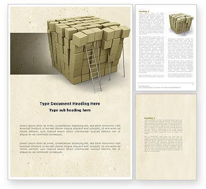 Boxes Word Template, 04591, Construction — PoweredTemplate.com