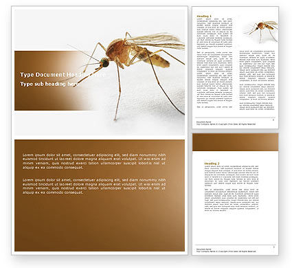 Mosquito Word Template, 04599, Agriculture and Animals — PoweredTemplate.com