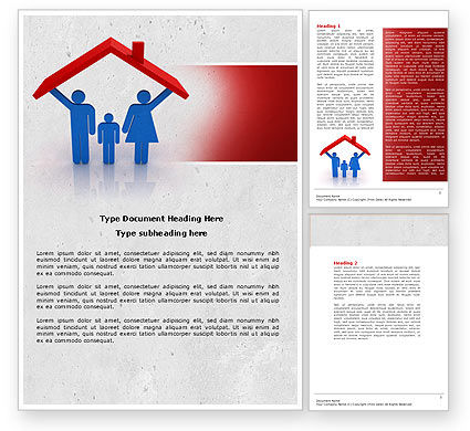 Household Word Template, 04608, Financial/Accounting — PoweredTemplate.com