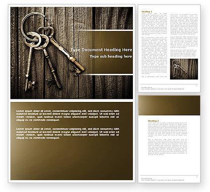 Keys Word Template, 04609, Education & Training — PoweredTemplate.com