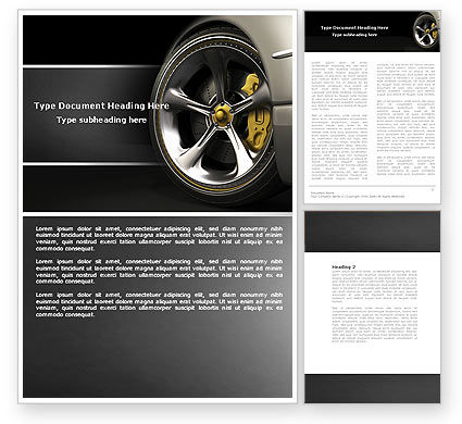 Cars/Transportation: Driving Wheel Word Template #04629