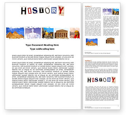 Education & Training: History Lesson Word Template #04630