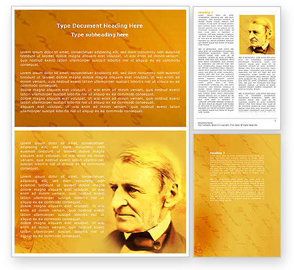 Education & Training: Ralph Waldo Emerson Word Template #04642