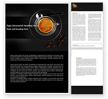 Coffee Shop Word Template, 04643, Food & Beverage — PoweredTemplate.com