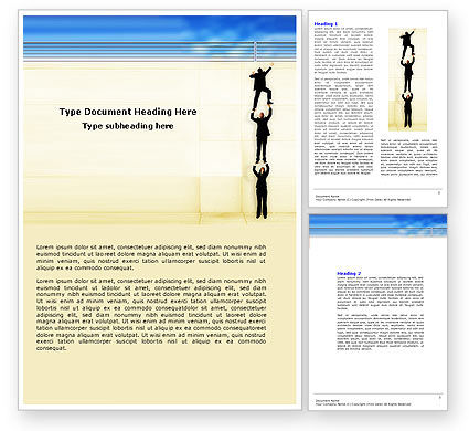 Reaching Success Word Template, 04649, Business Concepts — PoweredTemplate.com