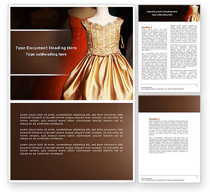 Costume Word Template, 04658, Careers/Industry — PoweredTemplate.com