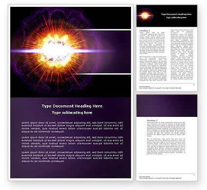 Technology, Science & Computers: Supernova Word Template #04660