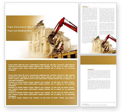 Demolition Word Template, 04661, Construction — PoweredTemplate.com