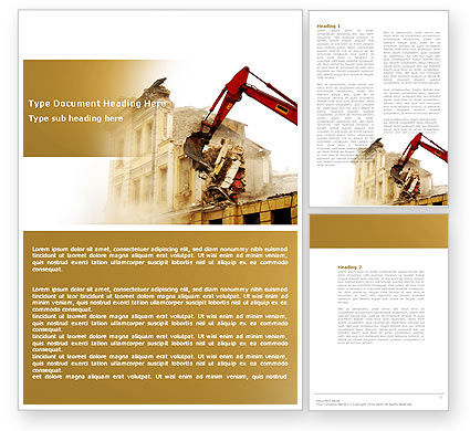 Construction: Demolition Word Template #04661