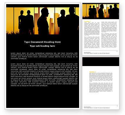 Silhouettes Word Template, 04665, Business — PoweredTemplate.com