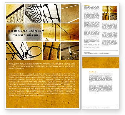Ball Games Word Template, 04668, Sports — PoweredTemplate.com