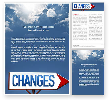 Way To Changes Word Template, 04676, Business Concepts — PoweredTemplate.com