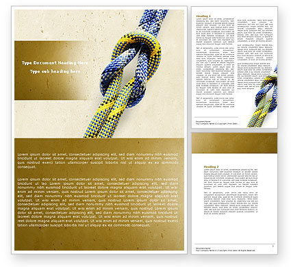 Reef Knot Word Template, 04678, Business Concepts — PoweredTemplate.com