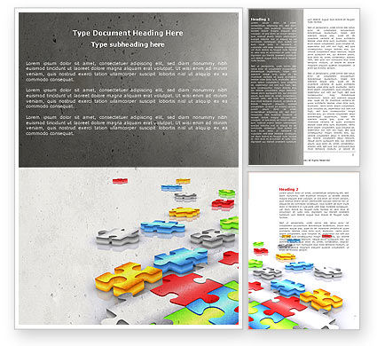 Puzzle Diversity Word Template, 04680, Business Concepts — PoweredTemplate.com