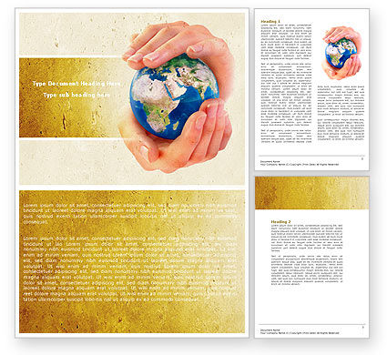 World Control Word Template, 04681, Global — PoweredTemplate.com