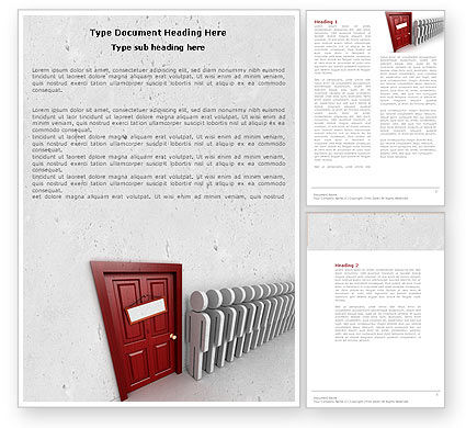 Waiting Line Word Template, 04691, 3D — PoweredTemplate.com