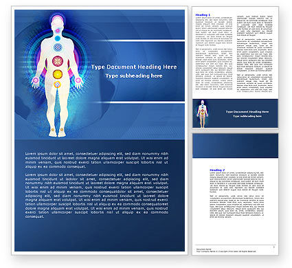 Medical: Body Chakras Word Template #04696